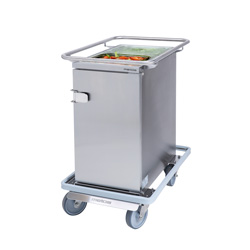3756701 | Food transport trolley Metos Termia 1000 CLN CB with 160 mm central lockable wheels |