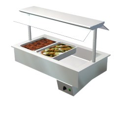 4138880 | Bain Marie Metos Drop-In BM 1200 Proff US-2L |