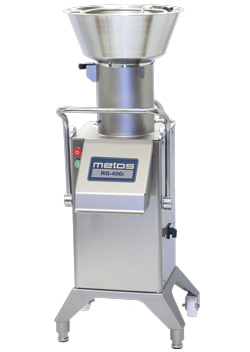 4144943 | Vegetable slicer Metos RG-400i with feed hopper and cylinder |