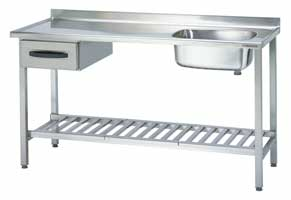 4180450 | Sink table  Metos  Proff 1600*650*900 mm |