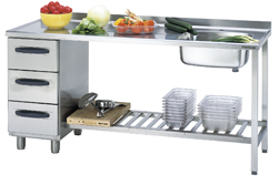4180510 | Sink table  Metos  Proff 1800*650*900 mm |