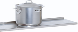 4188152 | Solid shelf  Metos , stainless steel 1280x400mm |