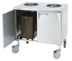 4208497 | Biowastetrolley 2 x 30l Metos LBJV-2, 2x240mm |