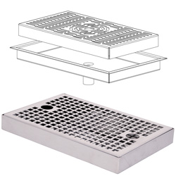 4214008 | Drip tray Metos stainless steel Drop-in ES2107 |