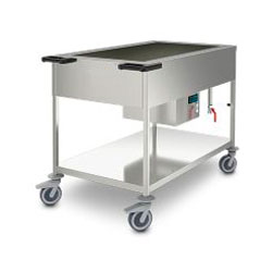 Cooled-basin carts