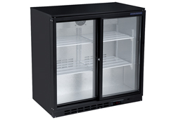 4242774 | Black Back Bar Cooler Profitbar SC-185S R600a with two sliding glass doors |