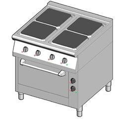 4243104 | Electric range with electric oven Metos 8EHUBE/80 |