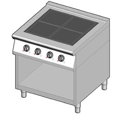 4243112 | Induction range Metos 8IHF4UBO/80 |