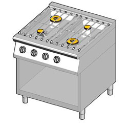4243142 | Gas range Metos 8GHUBO/80 |