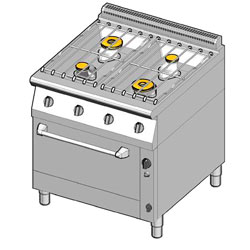 4243154 | Gas range with gas oven Metos 8GHUBG/80 |