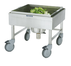Salad washing trolleys