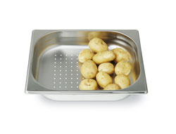 4255143 | GN container Metos GN1/2-65P, peforated, stainless steel |