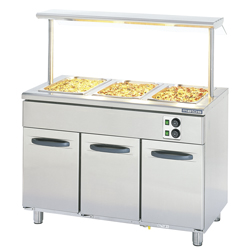 4321610 | Bain marie+shelf  Metos  Proff2 BM1200-3xTDR-US1H |