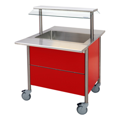 4322152 | Warm Serving Trolley Metos Corona BM 800 with Halotherm |