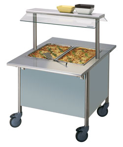 4322154 | Warm Serving Trolley Metos Corona BM 800/750 Halotherm |