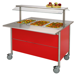 4322156 | Warm Serving Trolley Metos Corona BM 1200 with halotherm |