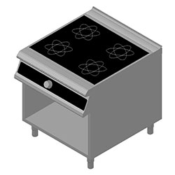 4343030 | Induction range Metos Diamante D94/10GCI with open cupboard |