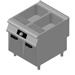 4343154 | Pasta-cooker Metos Diamante Touch DT94/10CPE with two 40 litres basins |