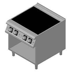 4343314 | Induction range Metos Diamante D94/10GCITC with open cupboar |