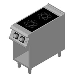 4343318 | Induction range Metos Diamante D92/10GCI with open cupboard |