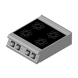 4343324 | Induction range Metos Diamante D94/10TCI table top model |