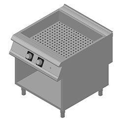 4343332 | Bain-marie Metos Diamante D94/10CBE with open cupboard |