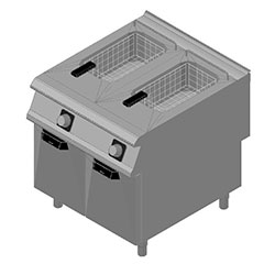 4343610 | Fryer Metos Diamante D9422/10FRE with two 22 litres basins |