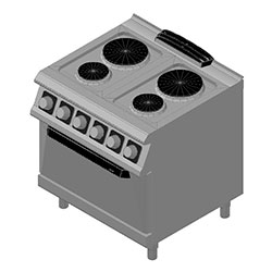4343856 | Range with oven Metos Diamante D74/10CEEPT |