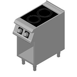 4343868 | Ceramic range D72/10VTC with open cupboard