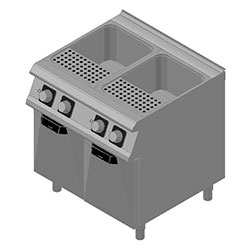 4344112 | Pasta-cooker Metos Diamante D74/10CPE with two 28 litres basins |