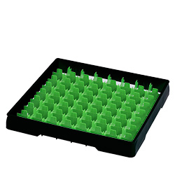 4550011 | Black heightening frame with green divider Metos |