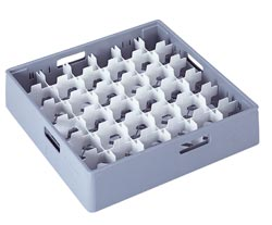4550014 | Grey compartment basket Metos with white compartment for 36x |