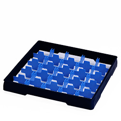 4550017 | Black heightening frame with blue divider Metos |