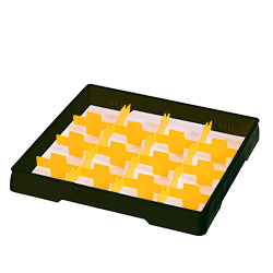 4550019 | Black heightening frame with yellow divider Metos |