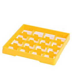 4550021 | Yellow heightening frame with yellow divider Metos |