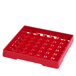 4550027 | Red heightening frame with red divider Metos |