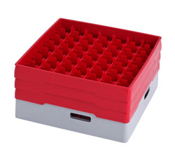 4550058 | Grey compartment basket Metos with red heightening frame and |