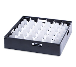 4550314 | Black compartment basket Metos with white compartment for 36 |