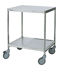 4554079 | Service trolley Metos SET-70/2WH Milk, 2 tiers |
