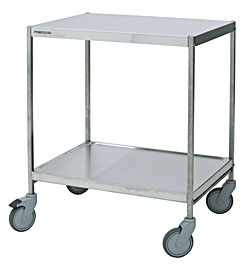 4554081 | Service trolley Metos SET-75/2WH Milk, 2 tiers |