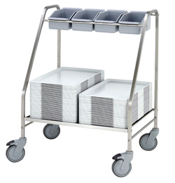 4554102 | Tray/cutlery trolley  Metos  TCT-75 |