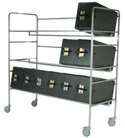 4554142 | Storing trolley  Metos  SDT-BB Black boxes 15 |
