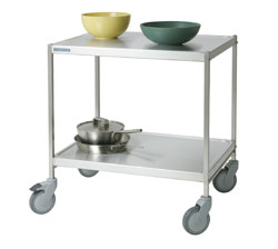 4554226 | Service trolley  Metos  SET-75WH/2 FP, 2 tiers, without handles |