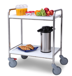 4554233 | Serving trolley Metos SET-70/2 FP wooden white |