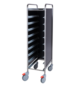 4555801 | Tray trolley Metos TRT-10C black |