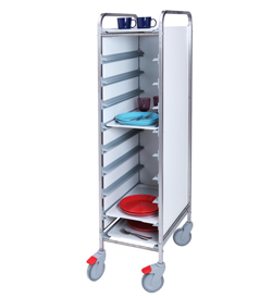 4555802 | Tray trolley Metos TRT-10C FP white |