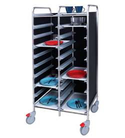 4555807 | Tray trolley Metos TRT-20C black |