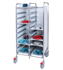4555808 | Tray trolley Metos TRT-20C white |